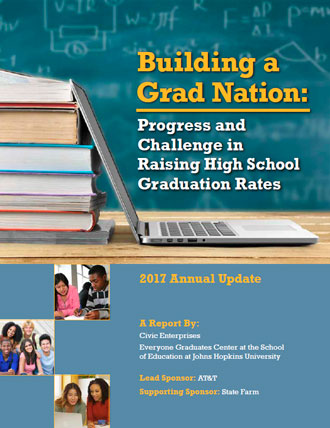 Cover for the Building a Grad Nation: Progress and Challenge in Raising High School Graduation Rates report