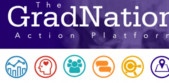 Gradnation Header with icons