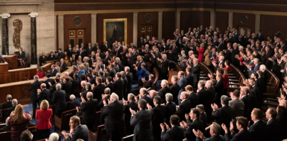 Memebers of Congress during a State of the Union Address
