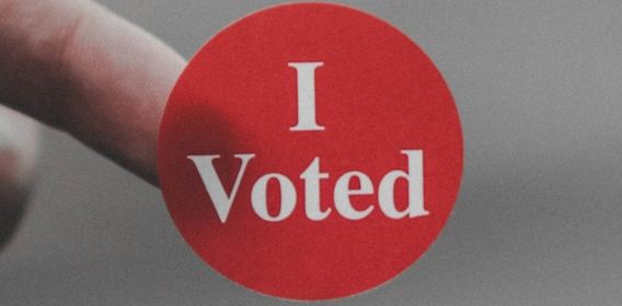 I voted sticker read